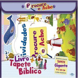 Livro+ tapete bíblico procure e ache
