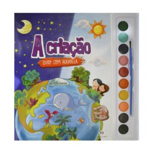 Livro com Aquarela - A Criação